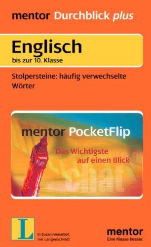 Englisch bis zur 10. Klasse - Stolpersteine: häufig verwechselte Wörter