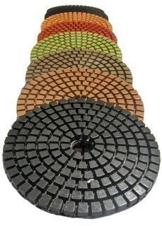 Diamond Polishing Pads 5'' Wet 5 Step Set for Stone Polishing (3mm Thick, Not the 2.2mm cheap type) Terrazzo fits hardin secco DAMO SPTA polisher FREE Priority Shipping