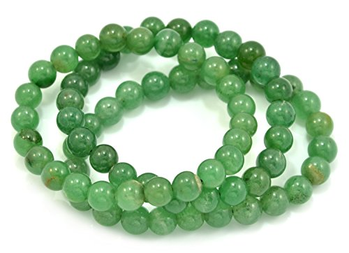 (Paialco 10mm Aventurine Gemstone Stretch Beaded Bracelet, Pack of 3)