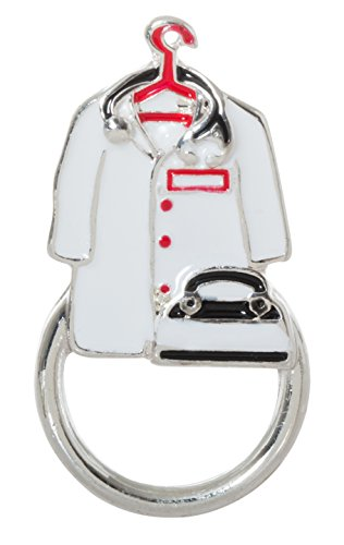 Lab Coat and Stethoscope Enamel Magnetic Pin Eyeglass/ID Holder Brooch for Doctors, Nurses, and Medical Professionals