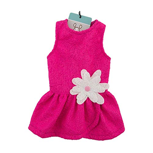 CuteBone Dog Dress with Harness D-Ring for Small Dogs Cat Clothes Girl Puppy Outfit Pink Shirt Flower Costume with Bow…