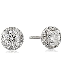 14k White Gold Diamond Stud Earrings (1/2 cttw)