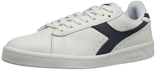 Diadora Men's Game L Low Waxed Court Shoe White/Blue Caspian Sea free shipping collections uggu5jc1