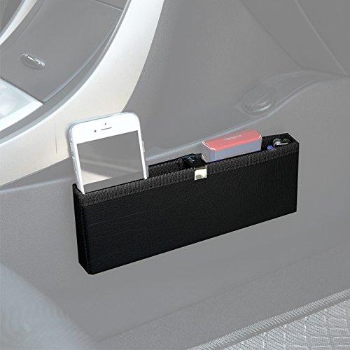 KMMOTORS Ultra Slim Side Pocket Black,Car Seat Side Organizer,Car Pockets by KMMOTORS