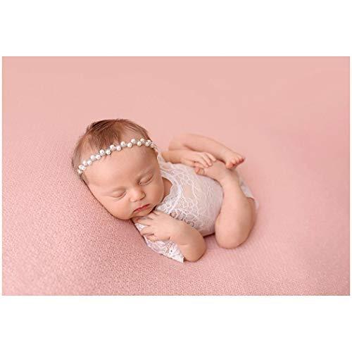 Photo Bobs Pour Strass Perle Bandeau Bonnets Casquettes Serre Avec Accessoires Bébé De Doux tête Iloits Et Élastique Silver RHqB7