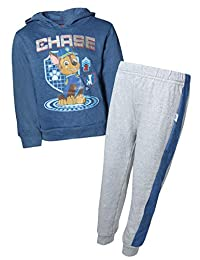 Nickelodeon Paw Patrol Boys 2-Piece Pull Over Fleece Hoodie Sweatpant Set, Royal Chase, Size 2T'