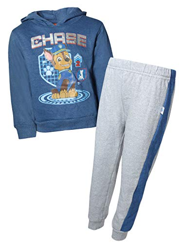 Nickelodeon Paw Patrol Boys 2-Piece Pull Over Fleece Hoodie Sweatpant Set, Royal Chase, Size 4T'
