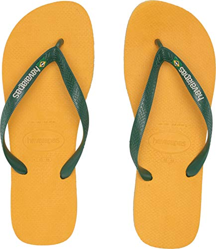 Havaianas Men's Brazil Logo Flip Flops Banana Yellow 43-44 M EU