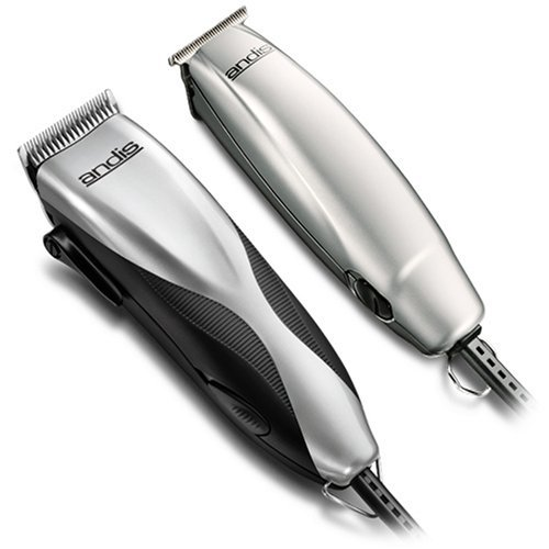 Andis Promotor+ 27-Piece Clipper/Trimmer Combo Haircutting Kit, Silver (29115) by Andis