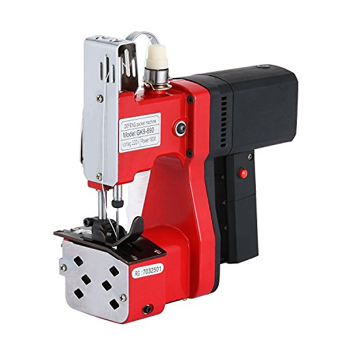 BestEquip Portable Bag Closer 110V Industrial Bag Closing Machine Woven Bag Closer Stitcher Sewing Tool for Bag Sealing