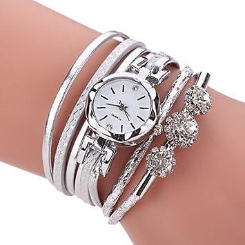 XKC-watches Relojes de Mujer, Mujer Simulado Diamante Reloj Reloj Pulsera Reloj de Moda