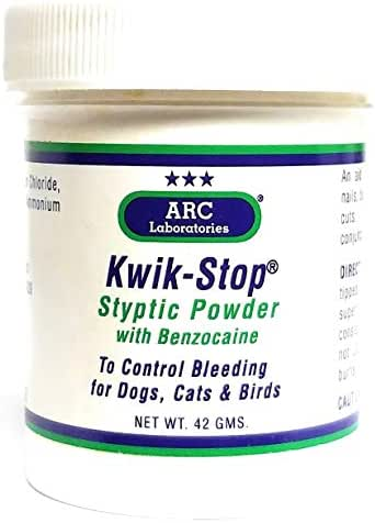 ARC Laboratories Kwik-Stop Styptic Powder for Dogs, Cats and Birds (42-gm container) by Arc International