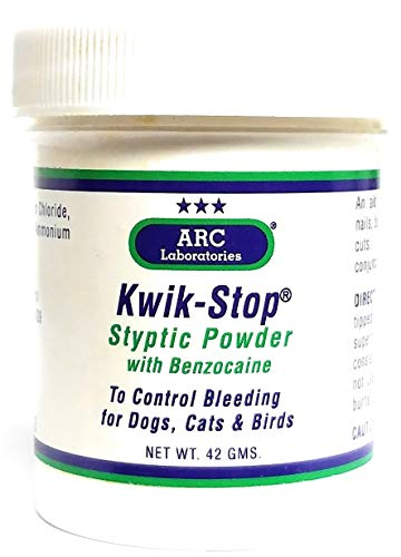 (ARC Laboratories Kwik-Stop Styptic Powder for Dogs, Cats and Birds (42-gm container) by Arc International )