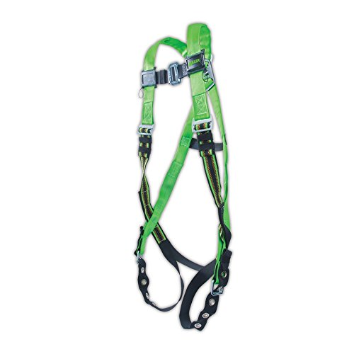 Honeywell P950-4/UGN Miller DuraFlex Python Pass Through Full Body Harness with D-Ring, Universal, Green