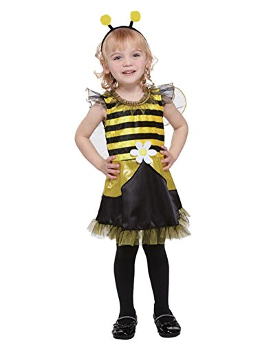 Totally Ghoul Toddler Girl Lil Bumblebee Fairy Costume Dress Headpiece (Kids And Toddler Bumble Bee Fairy Costumes)