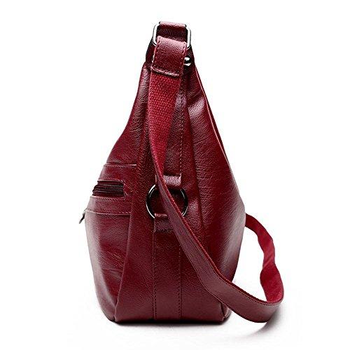 Hobos La Bandoulière Zipper Sac Sac Bureau Crossbody Rouge PU Cuir Cabina pour Pure à Fille à Totes Dames Bag Femmes Main gXrwnXptWq