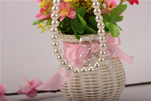 usongs Korean elegant imitation pearl necklace pendant women girls short paragraph pearl necklace pendant for her mother fashion simple bridal jewelry