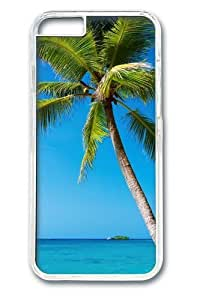 Beach Trees11 Custom For HTC One M7 Case Cover Polycarbonate Transparent