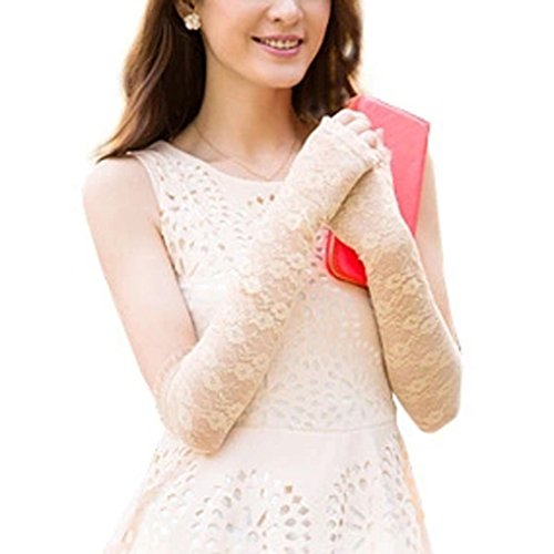 Wedding Dress Preservation Uv Protected: Lace Gloves Women Ladies Sexy UV Protection Long