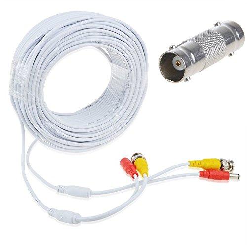 AT LCC 100フィート ホワイト BNC ビデオ電源コード、サムスンカメラケーブルSDH-C75123BF SDC-9441BC   B07FY9WPRT