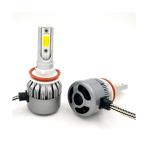 SPE LED Headlight Kit W COB Beam Bulbs 72w 7600Lm 6000K Cool White CREE 1 Yr Warranty