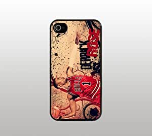 Derrick Rose - Case for Apple iPhone 5 - Hard Plastic - Black - Custom Cover - Chicago Bulls Basketball