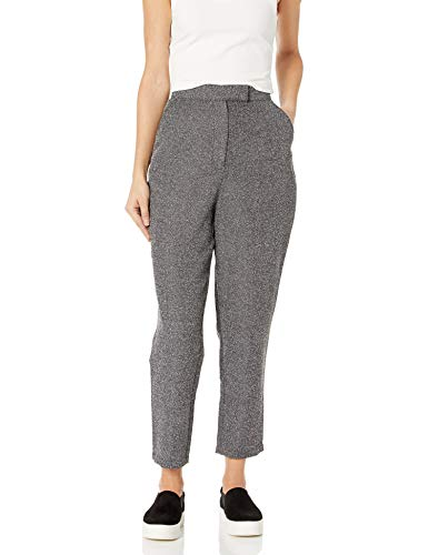 The Fifth Label Women's Symphonic Pleated Crop Trouser Pants, Salt and Pepper, X-Small