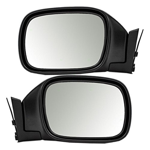 Driver and Passenger Manual Side View Mirrors Textured Replacement for Jeep SUV 55154947AC 55154946AC AutoAndArt - Jeep Cherokee Manual Mirror