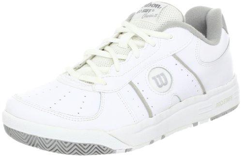 Wilson Women's Pro Staff Classic II Tennis Shoe,White/Silver,6.5 M US