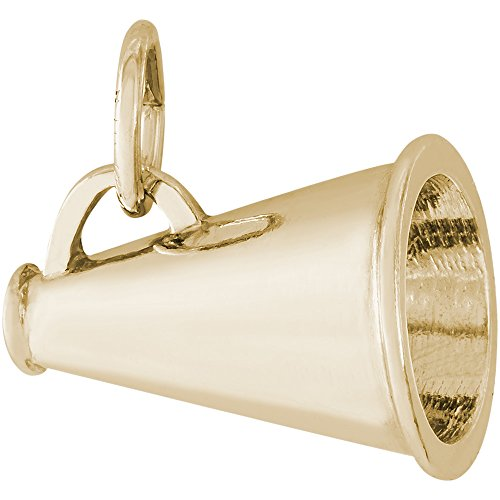 Rembrandt Charms 14K Yellow Gold Megaphone Charm (12 x 16.5 mm)