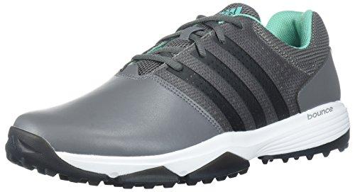 360 Golf - adidas Men's 360 Traxion WD Golf Shoe, Grey Four/CORE Black/HI-RES Green, 9.5 W US