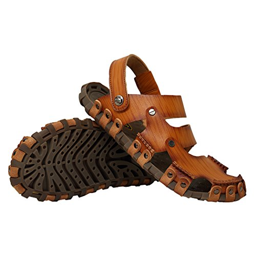 WALK-LEADER, Sandali sportivi uomo, marrone (Light Brown), 40