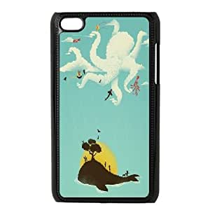 Customized iPod Touch 4 Cover Case, Personalized iPod Touch 4 Phone Case - dolphin