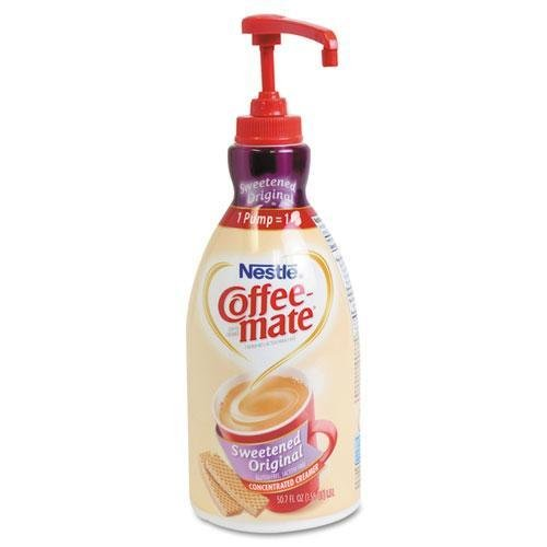 Creamer Pump Dispenser - Coffee-mate. Liquid Coffee Creamer, Sweetened Original, 1500mL Pump Dispenser (13799)