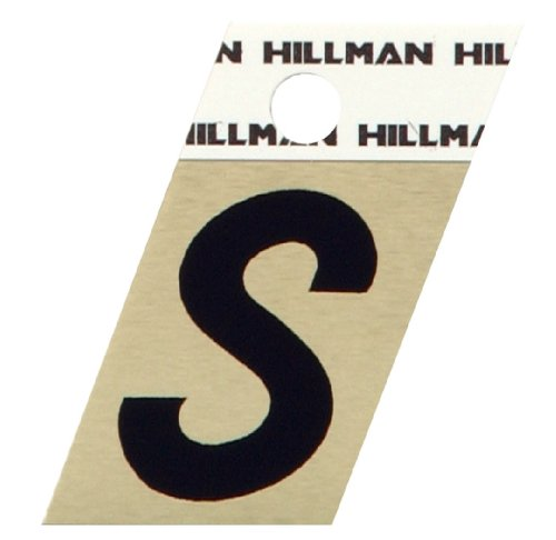 The Hillman Group 840530 1-1/2-Inch Aluminum Angle-Cut Letter S (Gold Anodized Aluminum Angle)