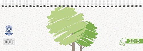 Baier & Schneider Querkalender Querterminbuch UWS, 1 Woche = 1 Seite, 297 x 100 mm, Karton, UWS-Mo