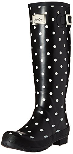 Joules Womens Welly Print Rain Boot Cream Spot Bianco