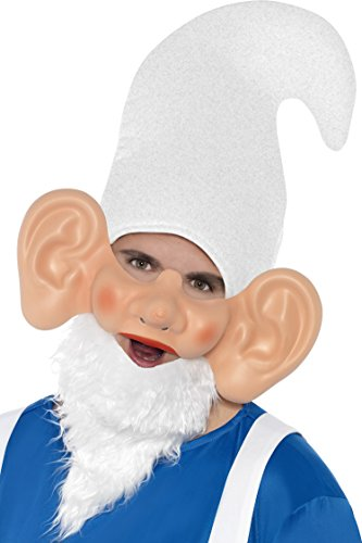 Smiffy's Men's Garden Gnome Mask, Half Face, One Size, (Gnome Hat And Beard)