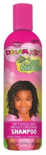 African Pride Dream Kids Olive Miracle Detangling Shampoo 12oz (6 Pack)