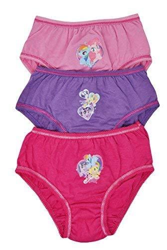 Aumsaa ragazze MY LITTLE PONY Personaggi 100% Slip di cotone Intimo Sottoveste Slip confezione da 3 3-4 yrs