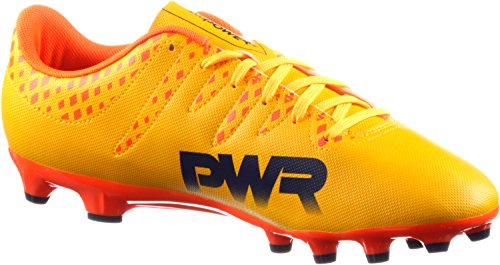 Puma Evopower Vigor 4 Ag, Botas de Fútbol para Hombre Ultra yellow-Peacoat-Orange clown fish