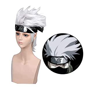 Amazon.com : Elibeauty Naruto Cosplay Wig, Anime kakashi ...