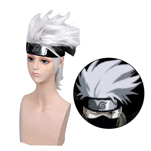 HomMall Anime Characters Play Cosplay Wigs Anime Manga Costume Synthetic Hair(Naruto)