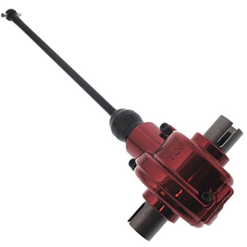 Lst Parts - Losi LST XXL 2 FRONT REAR RED ALUMINUM DIFFERENTIAL, CENTER DRIVE SHAFT & PINION