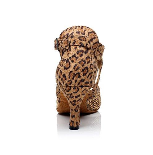 Minitoo - Zapatillas de danza para mujer leopardo