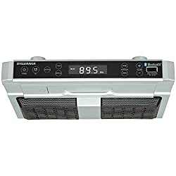 Sylvania Skcr2810bt Under Cabinet Clock Radio, Music System With Bluetooth Streaming & Fm Radio