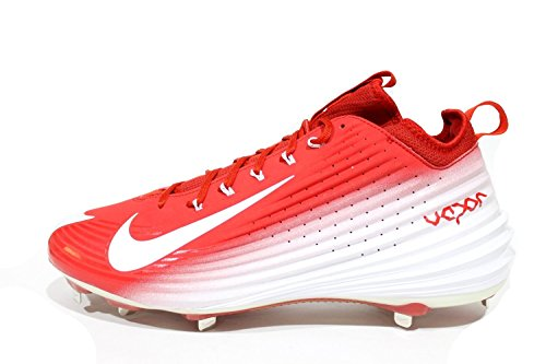 sports shoes a3aa1 08d48 Nike Mens Lunar Vapor Trout Mid Baseball Cleats Mike Trout Red White Sz 10