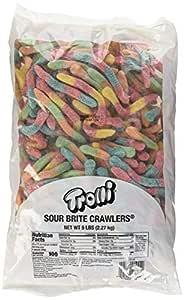 Trolli Sour Brite Crawlers Gummy Worms, 5 Pound Bulk Bag