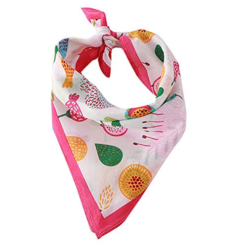 OOEOO Pet Saliva,Christmas Tree Print Cotton Breathable Dog Scarf Saliva Towel,Pet Accessories(B,Free)