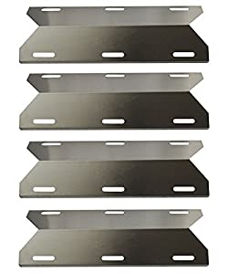Hongso 4-pack BBQ Gas Grill Heat Plate, Heat Shield, Heat Tent, Burner Cover, Vaporizor Bar, and Flavorizer Bar for Costco Kirland, Jenn-air, Nexgrill, Lowes (17 3/4